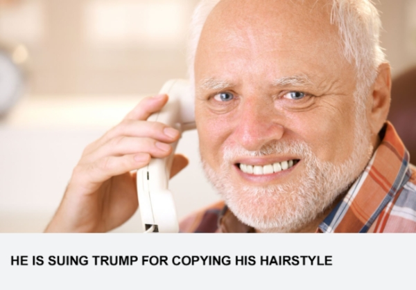 He Is Suing Trump For Copying His Hairstyle