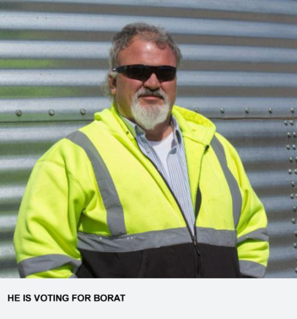 He Is Voting For Borat