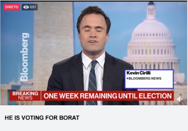 He Is Voting For Borat