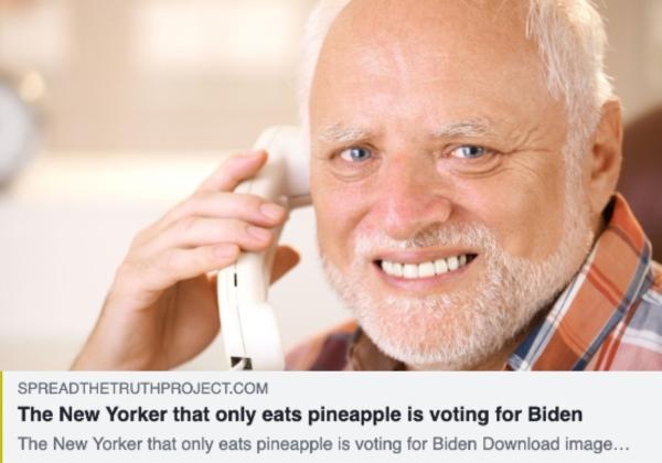 The man that only eats pineapple is voting