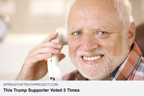 This Trump supporter voted 3 times