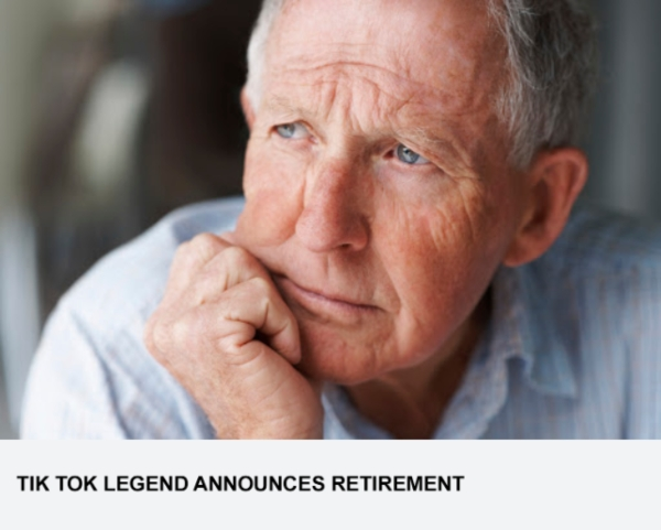 Tik Tok Legend Announces Retirement
