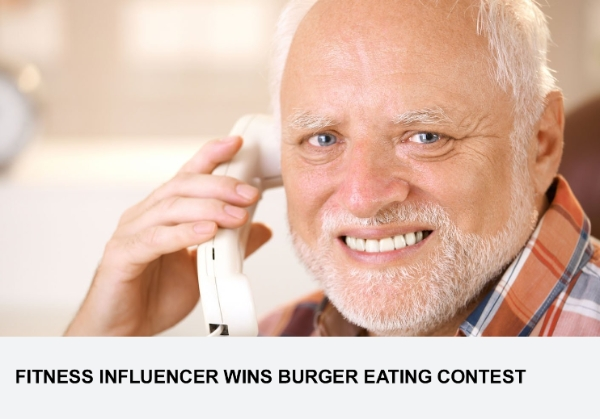 Fitness Influencer Wins Burger Eating Contest