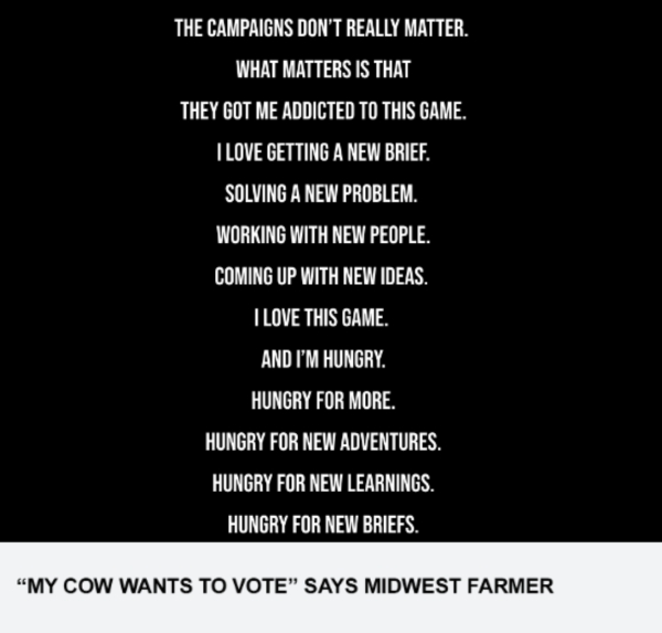 """My Cow Wants To Vote"" Says Midwest Farmer"